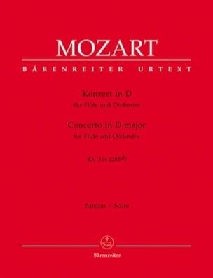 Wolfgang Amadeus Mozart - Flötenkonzert D-Dur KV 314 – Partitur - Partition - di-arezzo.fr