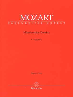 MOZART - Misericordias Domini, KV 222 - Partitur - Sheet Music - di-arezzo.co.uk