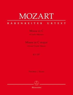 Wolfgang Amadeus Mozart - Missa C-Dur (Credo-Messe) KV 257 – Partitur - Partition - di-arezzo.fr