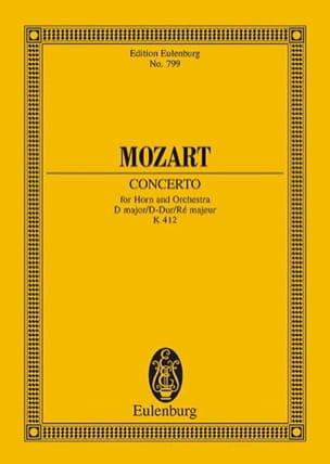 MOZART - Horn-Konzert Nr. 1 D-Dur KV 412 - Partition - di-arezzo.fr