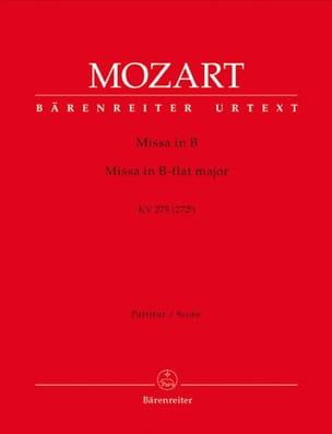 MOZART - Missa Brevis B-Dur KV 275 – Partitur - Partition - di-arezzo.fr