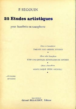 Paul Segouin - 25 Artistic Studies - Volume 1 - Partition - di-arezzo.co.uk