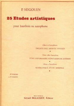 Paul Segouin - 25 Artistic Studies - Volume 2 - Sheet Music - di-arezzo.co.uk