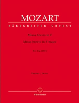 MOZART - Missa brevis F-Dur KV 192 - Partitur - Sheet Music - di-arezzo.co.uk