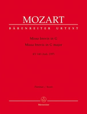 Missa brevis G-Dur KV 140 – Partitur - laflutedepan.com