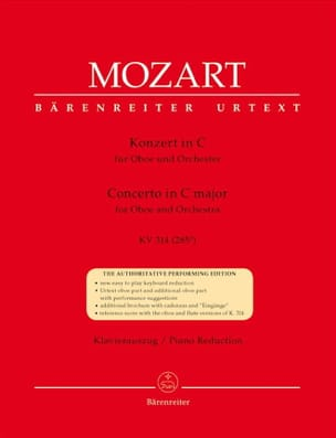 MOZART - Oboenkonzert C-Dur KV 314 - Oboe and piano - Sheet Music - di-arezzo.co.uk