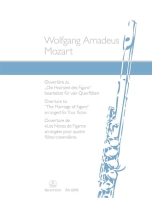 MOZART - Opening of the Marriage of Figaro arranged for 4 flutes - Partition - di-arezzo.co.uk