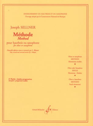 Méthode - Volume 2 Joseph Sellner Partition Hautbois - laflutedepan