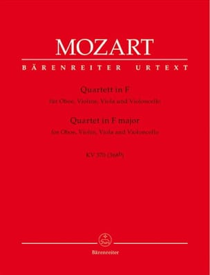 MOZART - Quartett F-Dur KV 370 - Violine Viola Viola Violoncello - Sheet Music - di-arezzo.co.uk