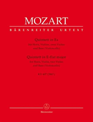 MOZART - Quintett KV 407 - Horn Violine 2 Violen Bass - Sheet Music - di-arezzo.co.uk