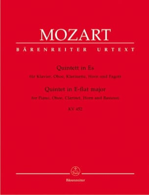 MOZART - E Flat Quintet Major KV 452 - Sheet Music - di-arezzo.co.uk