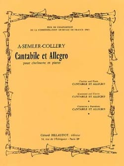 Armand Semler-Collery - Cantabile et Allegro - Partition - di-arezzo.fr