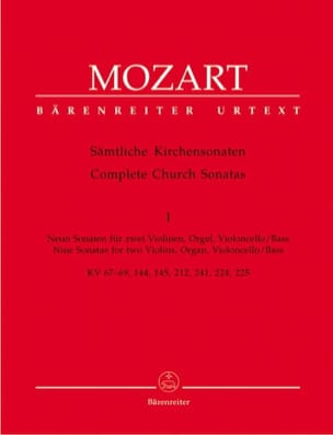 MOZART - Sämtliche Kirchensonaten - Heft 1 - Sheet Music - di-arezzo.co.uk