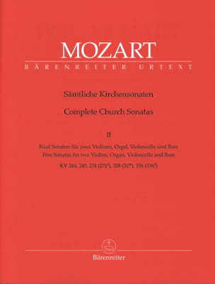 MOZART - Sämtliche Kirchensonaten - Heft 2 - Sheet Music - di-arezzo.co.uk