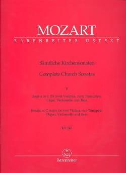 Kirchensonate C-Dur KV 263 - Partitur - MOZART - laflutedepan.com