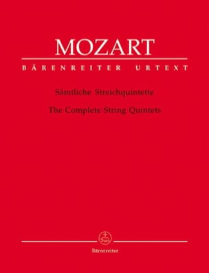 Intégrale des quintettes à cordes MOZART Partition laflutedepan
