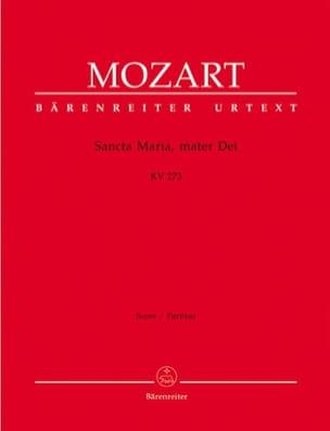 MOZART - Sancta Maria, mater Dei KV 273 - Partitur - Partition - di-arezzo.fr