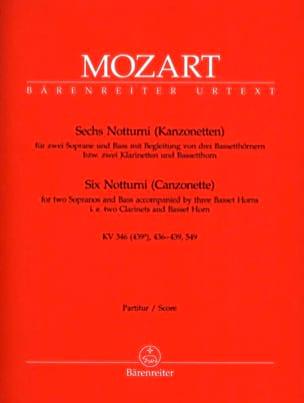 MOZART - 6 Notturni Kanzonetten - Partitur - Sheet Music - di-arezzo.com