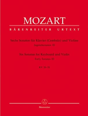 MOZART - 6 Sonaten – Jugendsonaten, Volume 3 (KV 26-31) - Partition - di-arezzo.fr