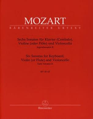 MOZART - 6 Sonatas for Piano, Violin, Cello KV 10-15 - Sheet Music - di-arezzo.co.uk