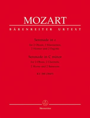 MOZART - Serenade c-moll KV 388 - Bläseroktett - Stimmen - Sheet Music - di-arezzo.co.uk