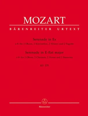 MOZART - Serenade Es-Dur KV 375 - Bläseroktett - Stimmen - Sheet Music - di-arezzo.co.uk