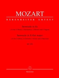 MOZART - Serenade Es-Dur KV 375 -Bläsersextett - Stimmen - Partition - di-arezzo.fr