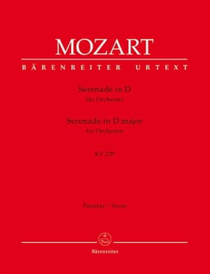 MOZART - Serenade D-Dur KV 239 - Partitur - Partition - di-arezzo.fr