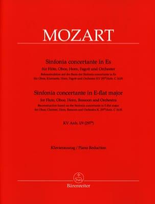 MOZART - Sinfonia concertante in Es-Dur- Flöte, Oboe, Horn, Fagott Klavier - Partition - di-arezzo.fr
