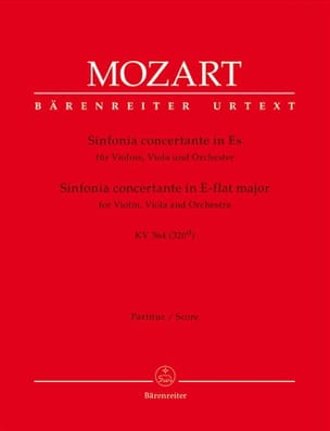MOZART - Sinfonia Concertante Es KV 364 - Conducteur - Partition - di-arezzo.fr