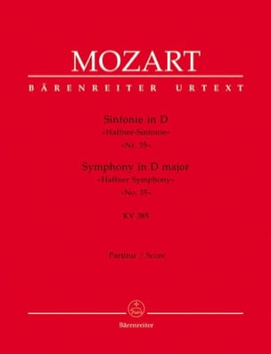 MOZART - Symphony Nr. 35 D-hard Haffner KV 385 - Partitur - Sheet Music - di-arezzo.co.uk