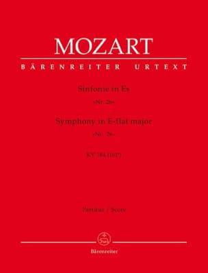 Symphonie Nr. 26 Es-dur KV 184 - Partitur MOZART laflutedepan
