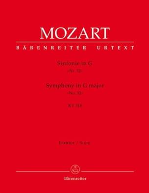Symphonie Nr. 32 G-dur KV 318 - Partitur - MOZART - laflutedepan.com