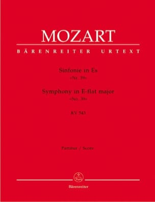 MOZART - Symphony Nr. 39 Es-Dur KV 543 - Partitur - Sheet Music - di-arezzo.com