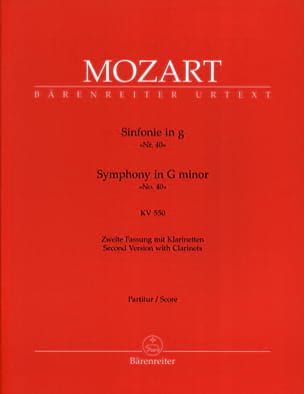 MOZART - Symphony Nr. 40 G-Moll Kv 550 - Sheet Music - di-arezzo.co.uk