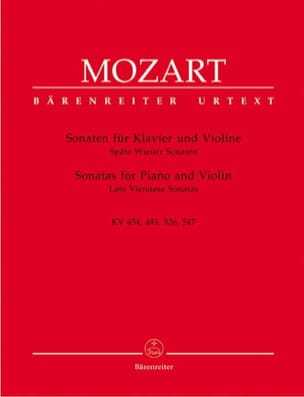 MOZART - Sonaten - Späte Wiener Sonaten - Sheet Music - di-arezzo.co.uk