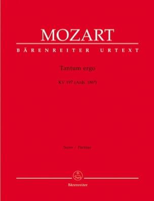 Wolfgang Amadeus Mozart - Tantum ergo KV 197 – Partitur - Partition - di-arezzo.fr