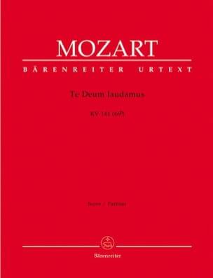 MOZART - Te Deum laudamus KV 141 - Partitur - Partition - di-arezzo.fr