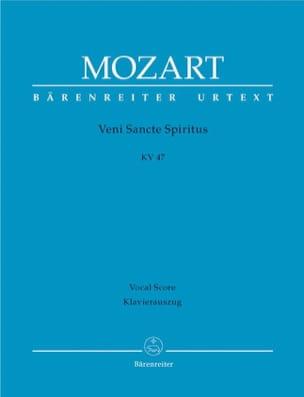 Wolfgang Amadeus Mozart - Veni Sancte Spiritus KV 47 – Partitur - Partition - di-arezzo.fr