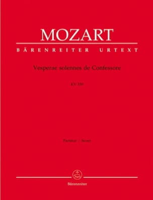 MOZART - Solemn Vesperae of Confessore KV 339 - Partitur - Sheet Music - di-arezzo.co.uk