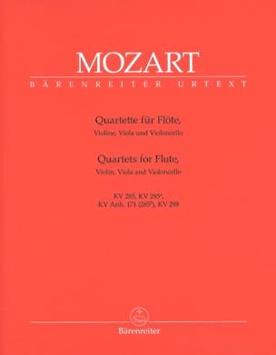 MOZART - Flute Quartets - Instrumental Pieces - Sheet Music - di-arezzo.co.uk