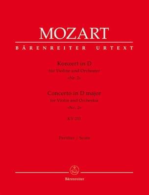 MOZART - Violin-Konzert D-Dur KV 211 - Partitur - Partition - di-arezzo.fr