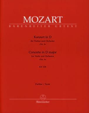 Wolfgang Amadeus Mozart - Violinkonzert Nr. 4 D-Dur KV 218 – Partitur - Partition - di-arezzo.fr