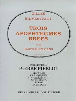 Gilles Silvestrini - 3 brief apophthegms - Sheet Music - di-arezzo.co.uk