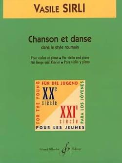 Vasile Sirli - Chanson et Danse - Partition - di-arezzo.fr