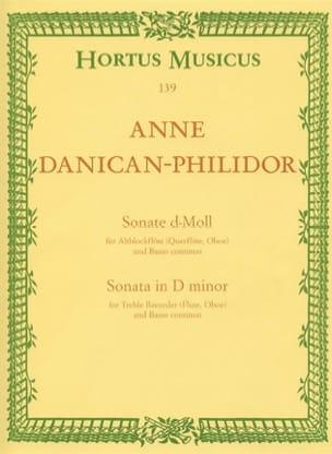 Anne Danican-Philidor - Sonate en RÉ mineur pour Flûte à bec et Basse continue - Partition - di-arezzo.fr