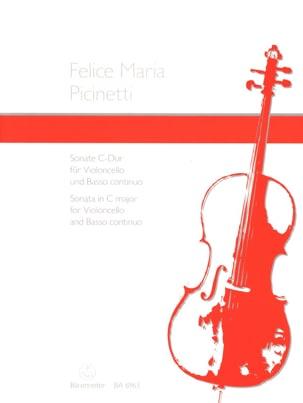 Felice Maria Picinetti - Sonata in do maggiore - Partitura - di-arezzo.it