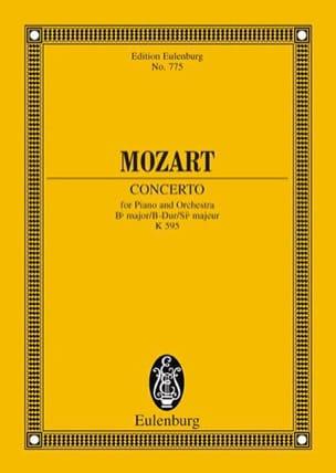 Klavierkonzert B-Dur KV 595 - Partitur MOZART Partition laflutedepan