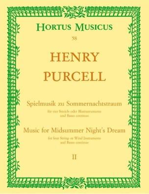 Henry Purcell - Spielmusik zum Sommernachtstraum. Heft 2 (Nr. 1 - 9) -Partitur - Partition - di-arezzo.fr
