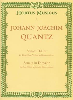 Johann Joachim Quantz - Sonata D-Dur - Flöte Oboe, Violine u. BC - Sheet Music - di-arezzo.co.uk